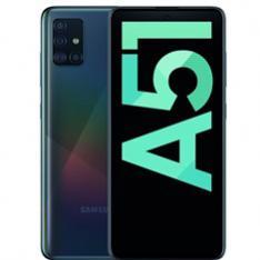 "TELEFONO MOVIL SMARTPHONE SAMSUNG GALAXY A51 BLACK 6.5""/ 128GB ROM/ 4GB RAM/ 48+12+5+5 MPX/ 32 MPX/ DUAL SIM/ LECTOR DE HUELLA"