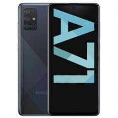 TELEFONO MOVIL SMARTPHONE SAMSUNG GALAXY A71 BLACK 6.7  128GB ROM  6GB RAM  64+12+5+5 MPX  32 MPX  DUAL SIM  LECTOR DE HUELLA