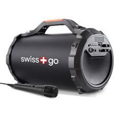 ALTAVOZ BLUETOOTH PORTATIL SWISS GO ARA P-30 USB/ 28W/ MICROFONO