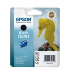 CARTUCHO TINTA EPSON T0481 NEGRA 13ML STYLUS PHOTO R200/ 220/ 300/ 320/ RX500/ RX600/ 620/ 640N/ CABALLITO DE MAR