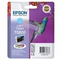 CARTUCHO TINTA EPSON T0805 CIAN CLARO 7.4ML STYLUS PHOTO R265/ 360/ RX560/ COLIBRI