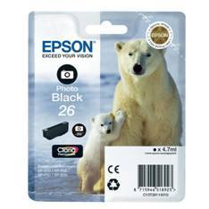 CARTUCHO TINTA EPSON T261140 NEGRO PHOTO BLACK 26 XP-600/605/700/800/ OSO POLAR