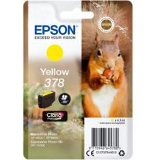 CARTUCHO TINTA EPSON C13T37844010 SINGLEPACK AMARILLO 378 CLARIA PHOTO HD INK XP-8500 ARDILLA