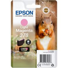 CARTUCHO TINTA EPSON C13T37864010 SINGLEPACK LIGHT MAGENTA 378 CLARIA PHOTO HD INK XP-8500 ARDILLA