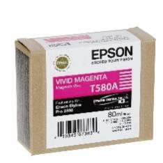 CARTUCHO TINTA EPSON T580A MAGENTA VIVO 80ML STYLUS PRO 3880