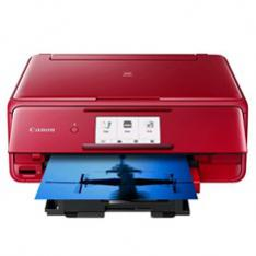 MULTIFUNCION CANON TS8152 INYECCION COLOR PIXMA A4/ 4800PPP/ WIFI/ PANTALLA TACTIL 10.8CM/ RANURA TARJETA MEMORIA/ 6 DEPOSITOS TINTA/ IMPRESION CD-DVD/ BLUETOOTH/ ROJA