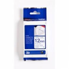 CINTA TEXTIL BROTHER TZEFA3 3M 12MM ANCHO BLANCA/AZUL PT1000/ 1005F/ 1010/ 1090/ 1280DT/ 1280VP/