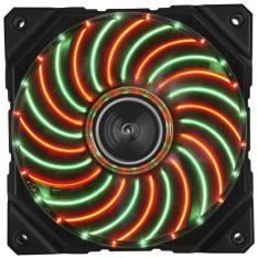 VENTILADOR GAMING ENERMAX DF VEGAS DUO 12CM PWM LUCES LED ROJO VERDE MODDING ANTI POLVO