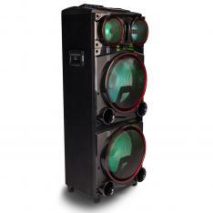 "ALTAVOZ PREMIUM NGS WILD PUNK 3 1000W/ SUBWOOFER 15"" X2/ USB/ SD/ BLUETOOTH/ RADIO FM"