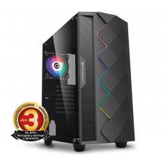 ORDENADOR PHOENIX GAMING RGB ZORK 3 BLACK AMD RYZEN 3 VGA VEGA8 8 GB DDR4 2666 240GB SSD 1TB HDD ATX RGB PC