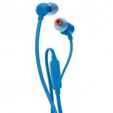 AURICULARES INTRAUDITIVOS JBL T110 BLUE   PURE BASS   DRIVERS 9MM   CABLE PLANO   MANOS LIBRES