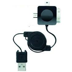 CABLE RETRACTIL DE CARGA Y DATOS UNIVERSAL PHOENIX IPHONE APPLE   IPOD   IPAD   MICRO USB   MINI USB