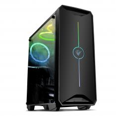 CAJA GAMING LED RGB PHOENIX YMIR ATX MINI-ATX MICRO-ATX   USB 3.0   3 VENTILADORES ARGB INSTALADOS   PANEL TRANSPARENTE   FILTROS ANTIPOLVO