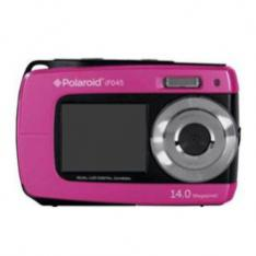 CAMARA DIGITAL POLAROID IF045 ROSA 14MP DOBLE PANTALLA 2.7 1.8 SUMERGIBLE 3MTS