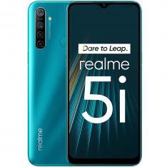 TELEFONO MOVIL SMARTPHONE REALME 5I AQUA BLUE  6.5  64GB ROM  4GB RAM  12MPX - 8MPX  5000 MAH  HUELLA