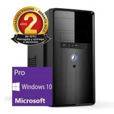 ORDENADOR PC PHOENIX TOPVALUE INTEL PENTIUM DUAL CORE 4GB DDR4 120GB SSD MICRO ATX WINDOWS 10 PRO