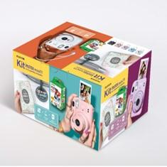 KIT KAMARA FUJIFILM INSTAX MINI 11 GRIS + CARGA 20 FOTOS+ ALBUN MISTER WONDERFUL