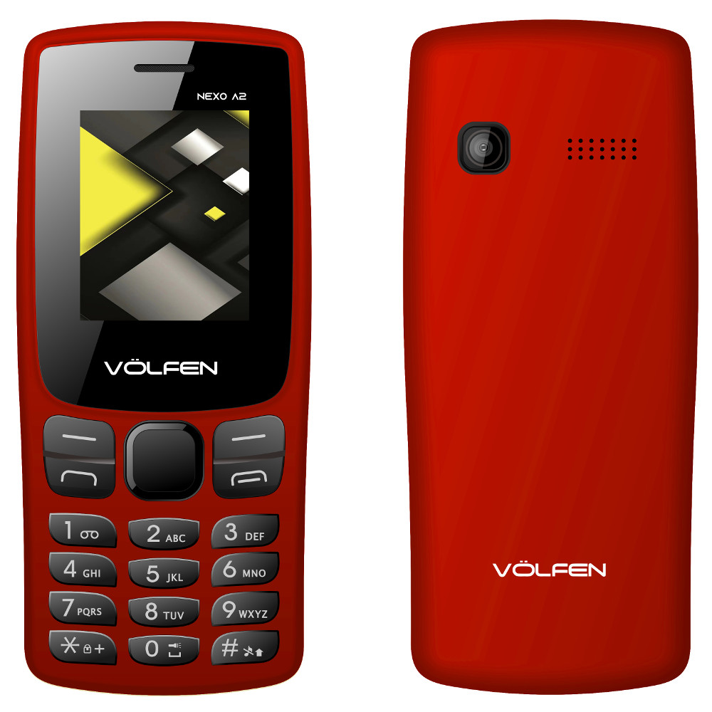 "TELEFONO VOLFEN A2 ROJO PANTALLA 1.8""/ CAMARA /RADIO FM / DUAL SIM / MICRO SD / BATERIA LARGA DURACION"