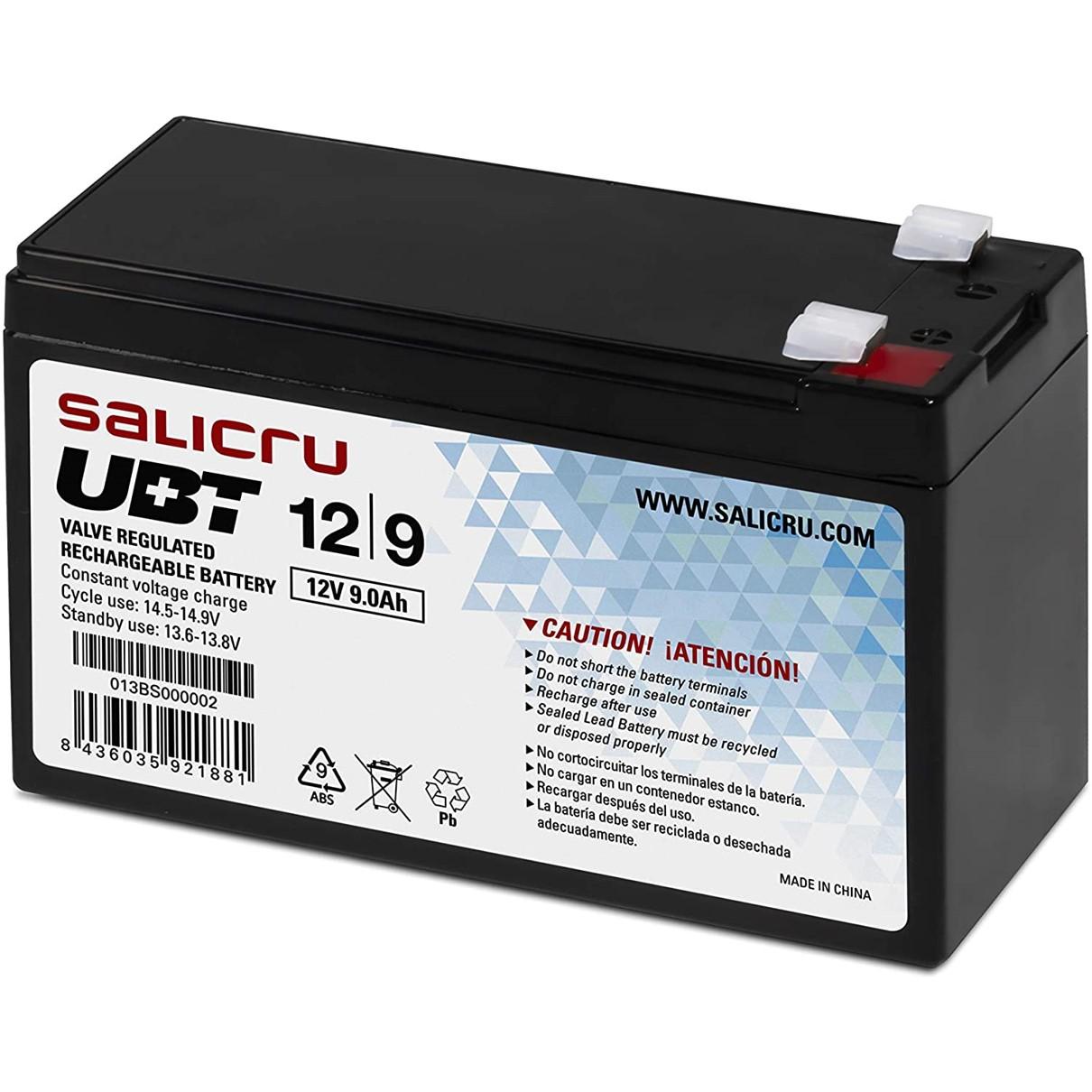 SALICRU UBT 12/9 - batería de UPS - Ácido de plomo - 9 Ah