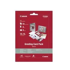 Canon Greeting Card Pack GCP-101 - kit de papel fotográfico - 10 hoja(s) - 100 x 150 mm - 170 g/m²