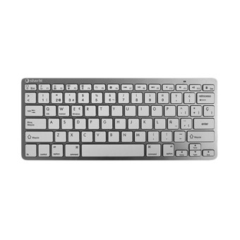 TECLADO INALMBRICO SILVERHT COLORS EDITION BLANCO - BT 3.0 - ALCANCE 10M - TECLAS TIPO CHICLET CUADRADAS - COMPATIBLE WINDOWS/IOS/ANDROID - 2XAAA