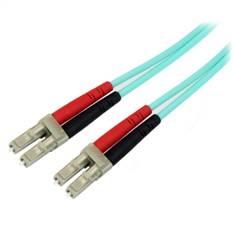 Cable fibra optica duplex multimodo om3 50/125 lc/lc libre de halogenos 10m
