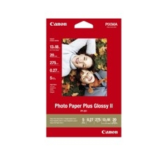 Canon Photo Paper Plus Glossy II PP-201 - papel fotográfico brillante - 20 hoja(s) - 130 x 180 mm - 260 g/m²