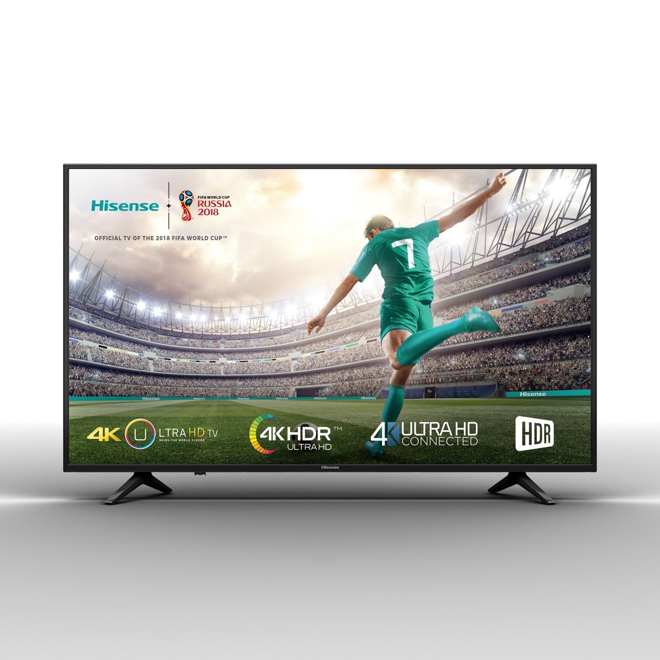 """TV LED HISENSE 50A6100 - 50""""/126CM 4K UHD 3840X2160 - HDR - DVB-T2/T/C/S2/S - SMART TV - WIFI - AUDIO 2X10W - 3XHDMI - 2XUSB - MODO HOTEL"""