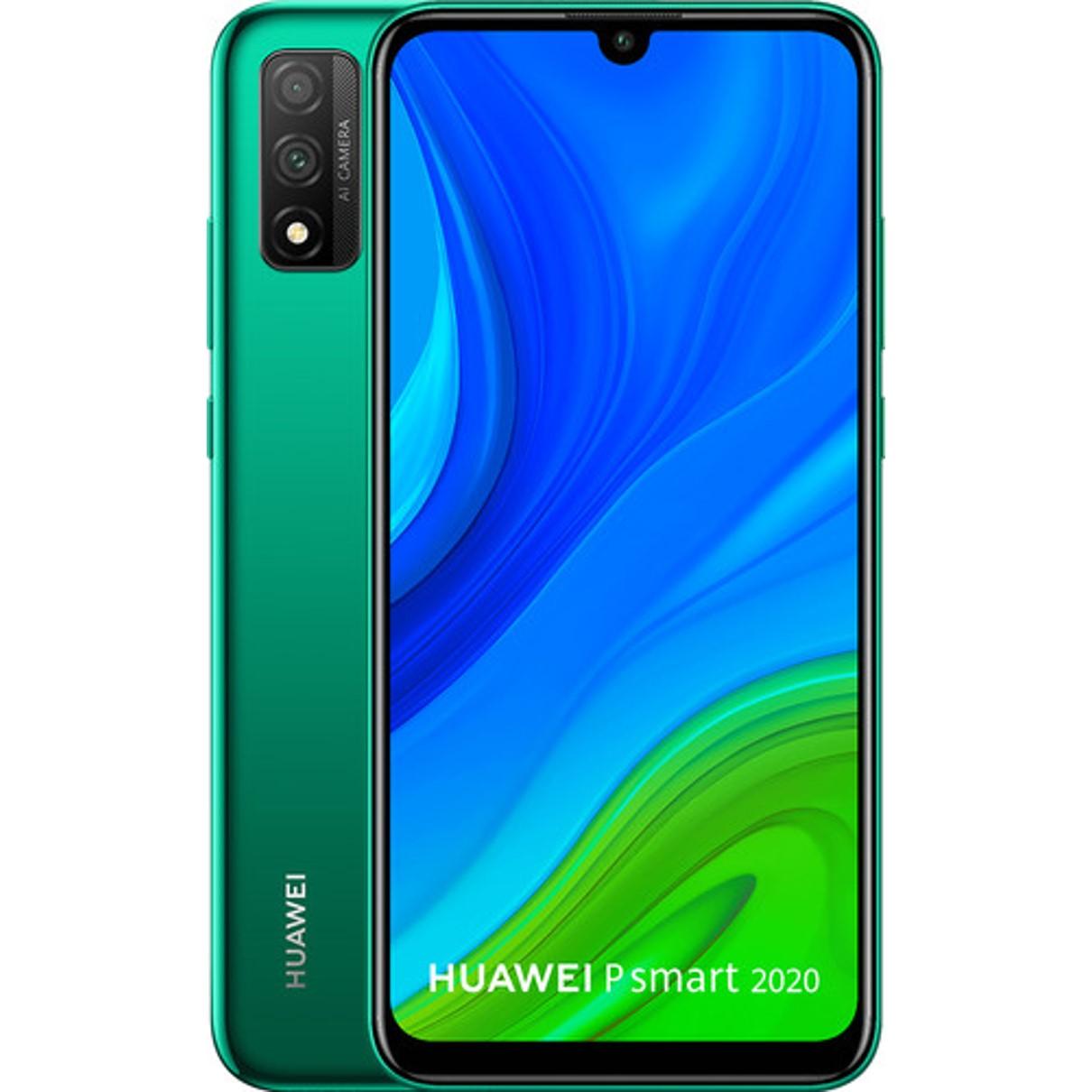 "TELEFONO MOVIL SMARTPHONE HUAWEI P SMART 2020 EMERALD GREEN/ 6.21""/ 128GB ROM/ 4GB RAM/ 13+2MPX - 8MPX/ OCTA CORE/ 3400 MAH/ HUELLA"