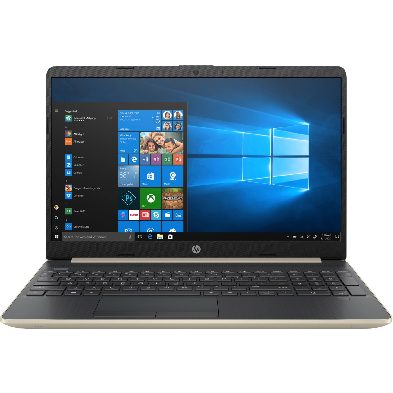"PORTATIL HP NOTEBOOK 15-DW0028NS I3-7020U 15.6"" 4GB / SSD128GB / WIFI / BT / W10"
