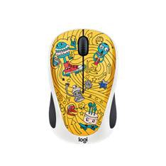 Mouse-logitech-m238-optico-wireless-doodle-collection-go-go-gold
