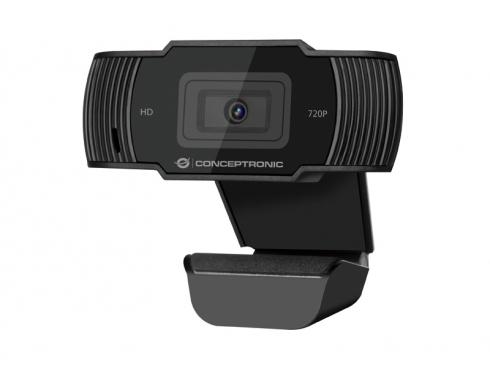 WEBCAM FHD CONCEPTRONIC AMDIS01B / 720P / USB 2.0 / 30 FPS / ANGULO VISION 68º / MICROFONO INTEGRADO