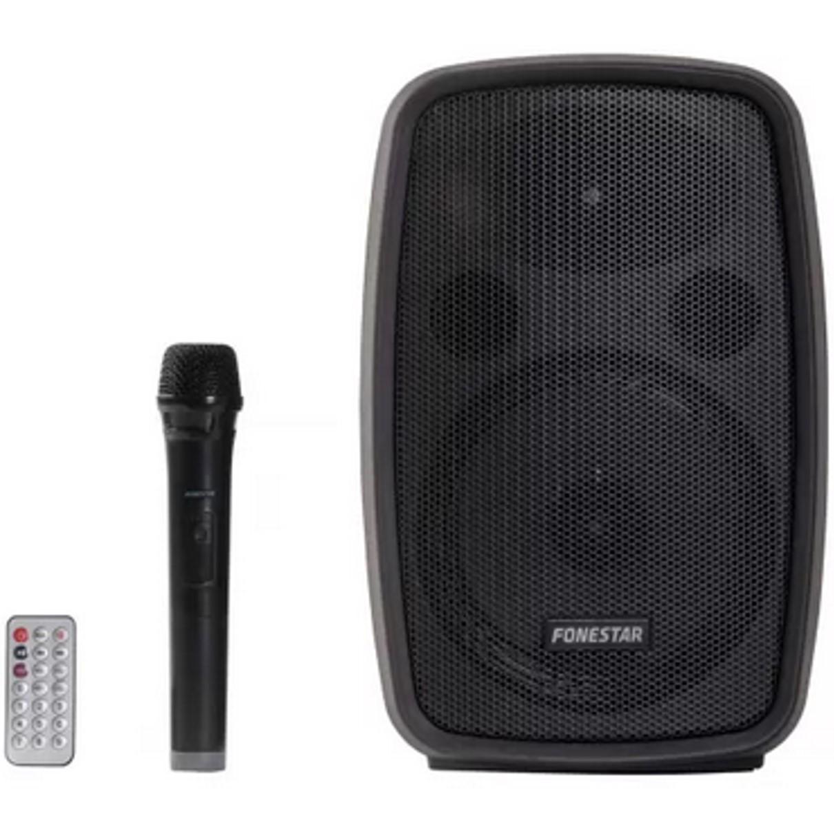 ALTAVOZ / AMPLIFICADOR PORTATIL FONESTAR AMPLY 100W BLUETOOTH / USB/ MICRO SD/ MP3/ RADIO FM / MICROFONO