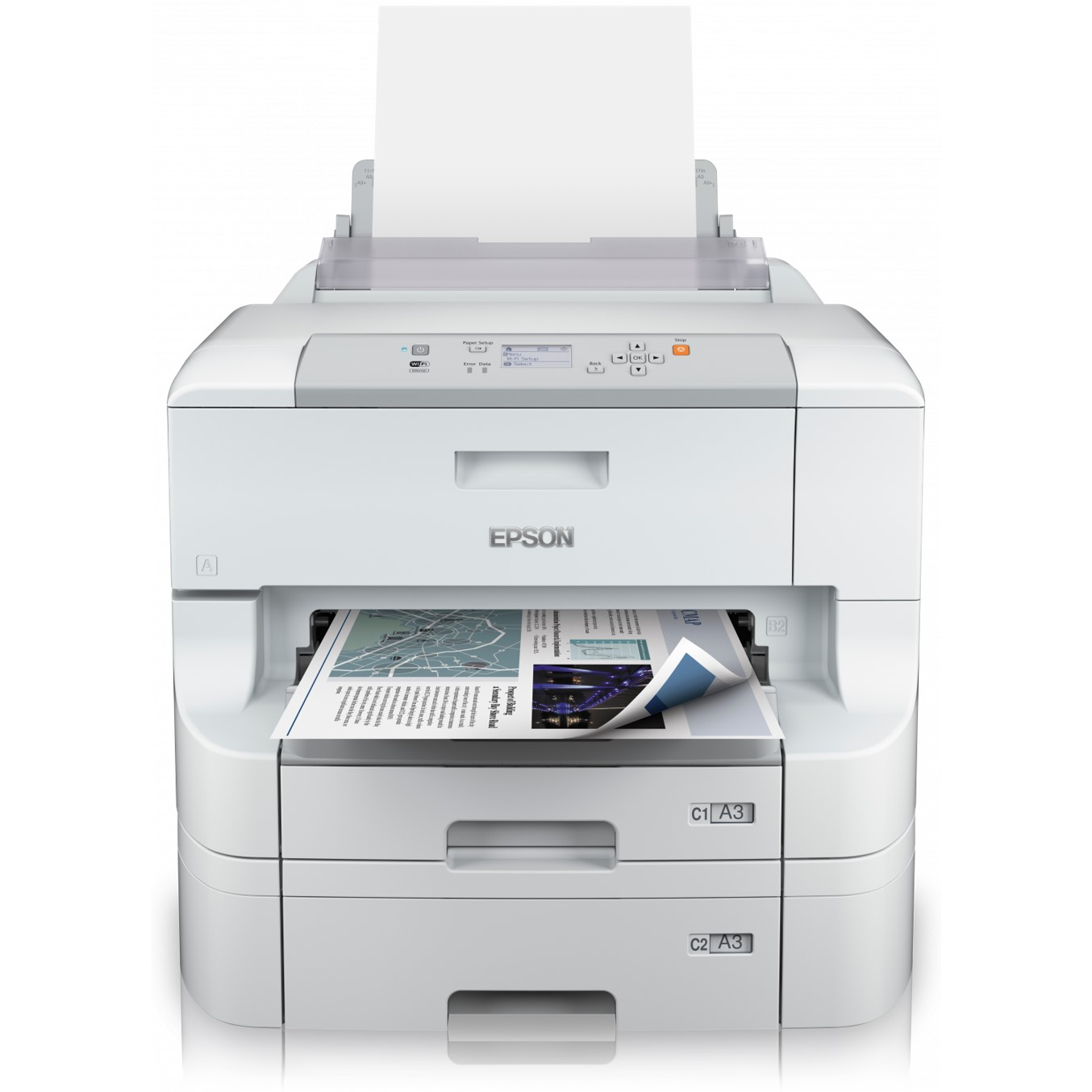 IMPRESORA EPSON INYECCION COLOR WF-8090DTWC WORKFORCE PRO A3+- 34PPM- USB- RED- WIFI- WIFI DIRECT- PDL- DUPLEX- 2 BANDEJAS