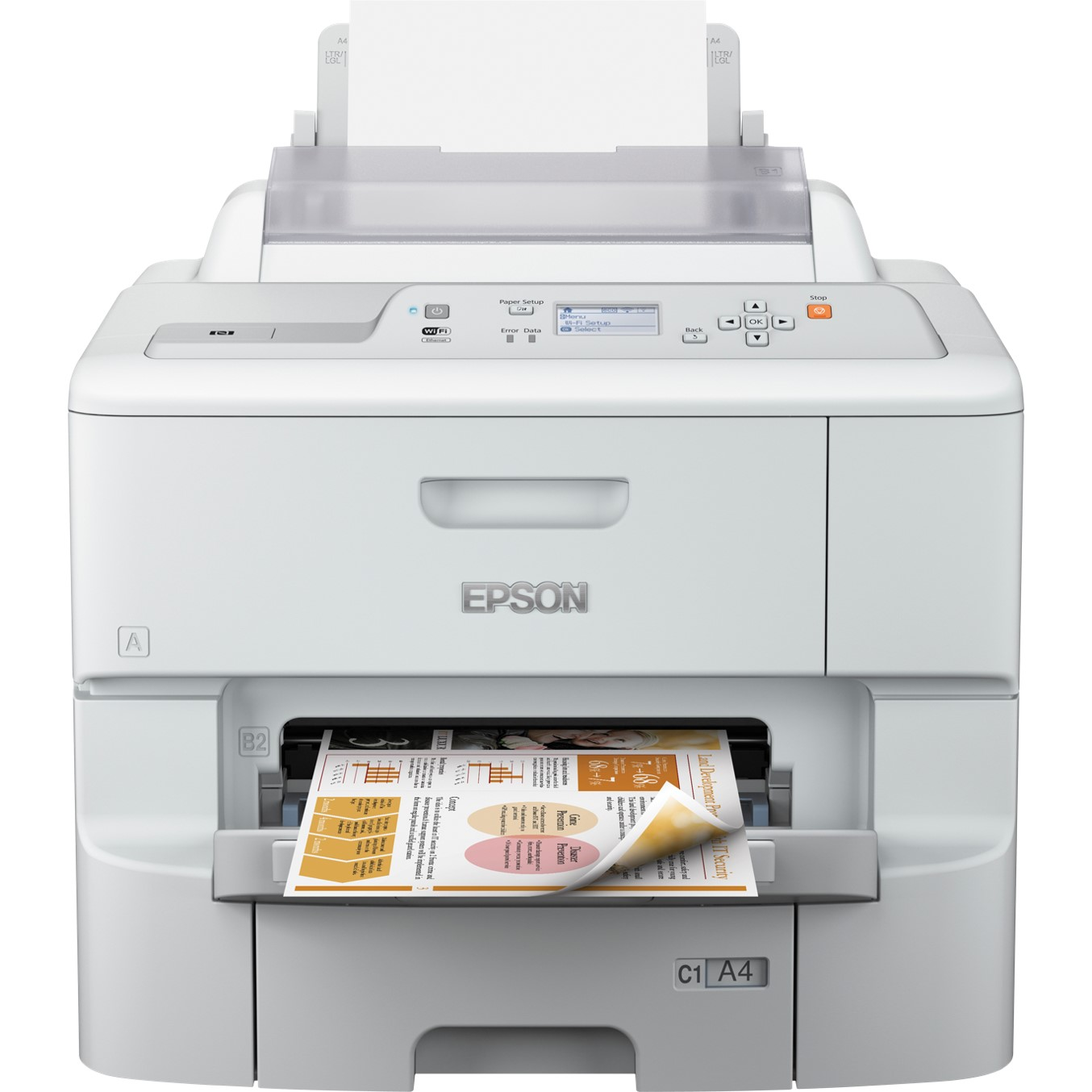 IMPRESORA EPSON INYECCION COLOR WF-6090DW WORKFORCE PRO A4- 34PPM- USB- RED- WIFI- WIFI DIRECT- DUPLEX IMPRESION