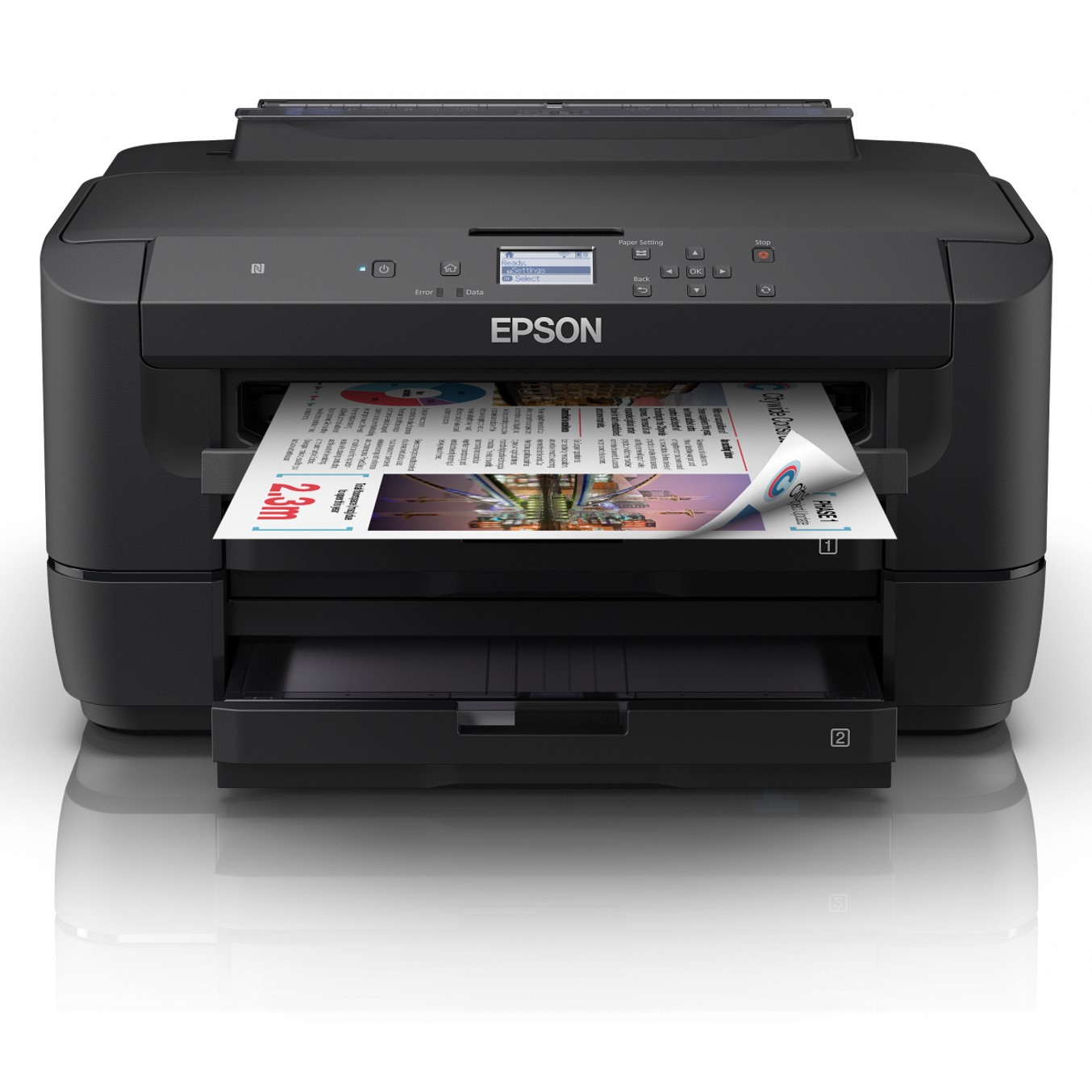 IMPRESORA EPSON INYECCION COLOR WF-7210DTW A3- 32PPM- USB- RED- WIFI- WIFI DIRECT- NFC- DUPLEX IMPRESION- DOS BANDEJAS A3