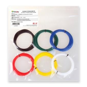 Pack filamento colido pen lt  pla blanco/rojo/azul