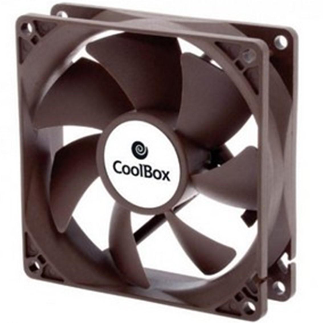 VENTILADOR AUXILIAR COOLBOX 8CM   1600RPM   COLOR NEGRO