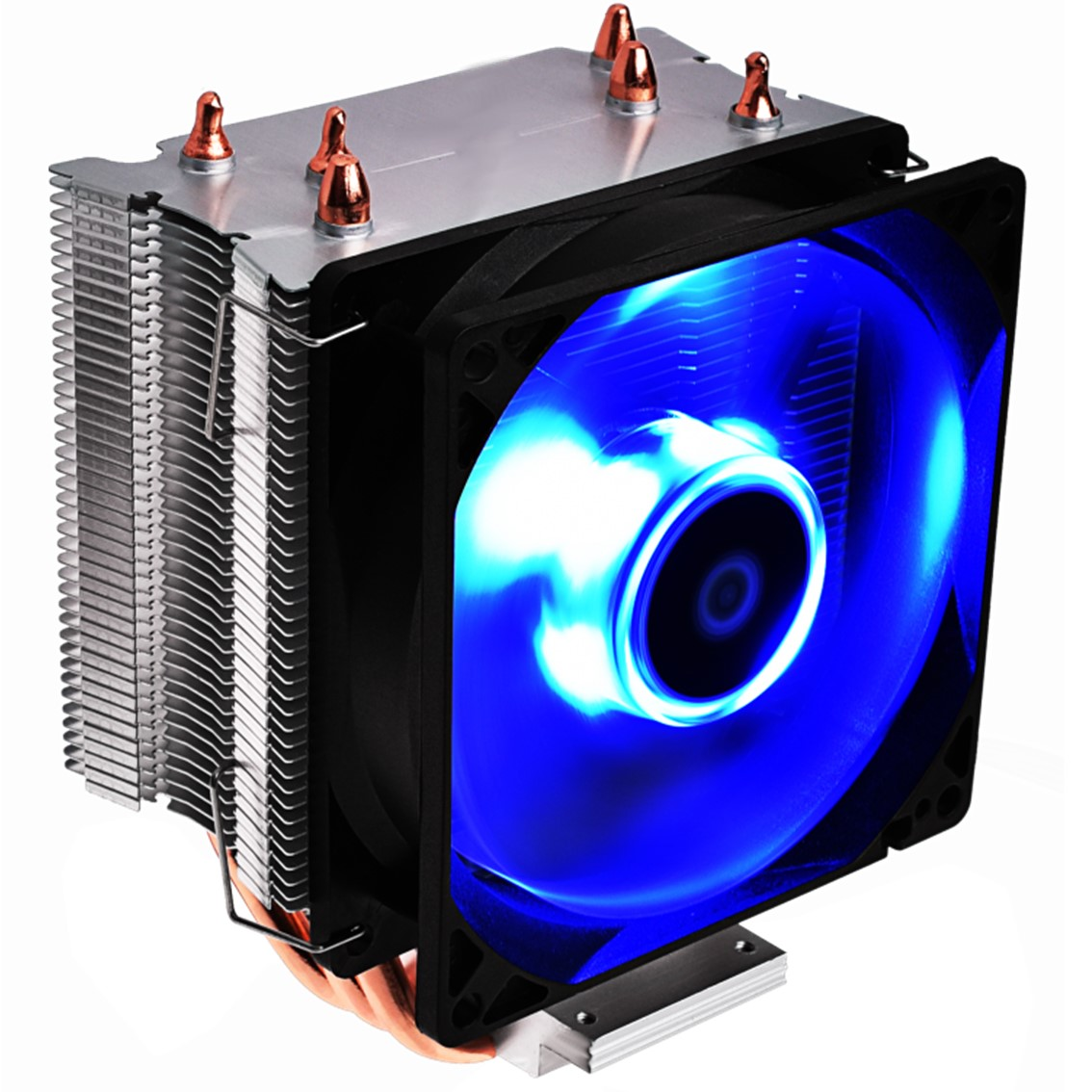 Ventilador disipador coolbox deep twister iii gaming led azul  para intel y amd