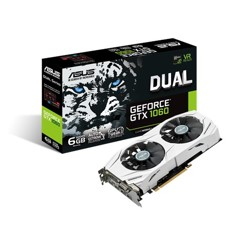 Vga asus nvidia geforce dual-gtx1060-6g 6gb gddr5 hdmi dvi display port