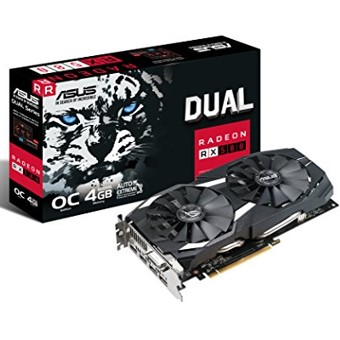 TARJETA GRAFICA ASUS AMD RADEON DUAL-RX580-O4G 4GB