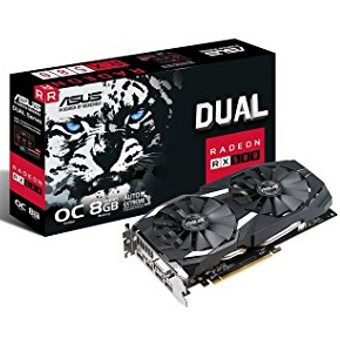 ASUS DUAL-RX580-O8G - tarjeta gráfica - Radeon RX 580 - 8 GB