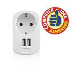 CARGADOR USB EWENT 2 PUERTOS   155W   ENCHUFE SHUKO