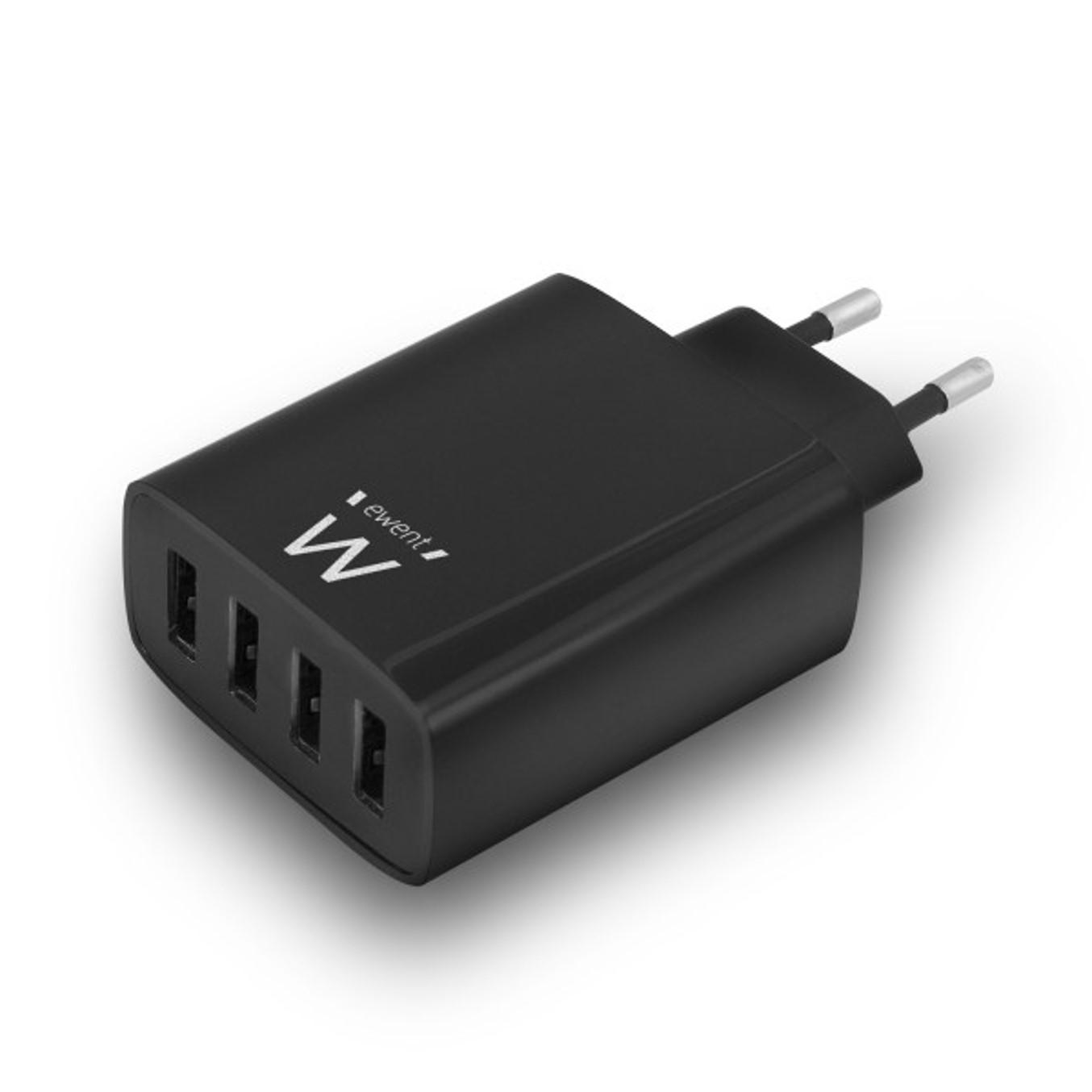 CARGADOR USB EWENT EW1314 4 PUERTOS 5.4 A