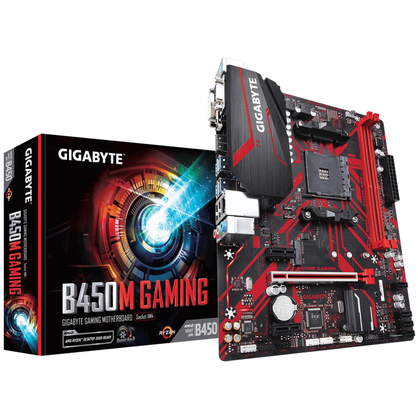PLACA BASE GIGABYTE AMD B450M GAMING DDR4X2 32GB VGA