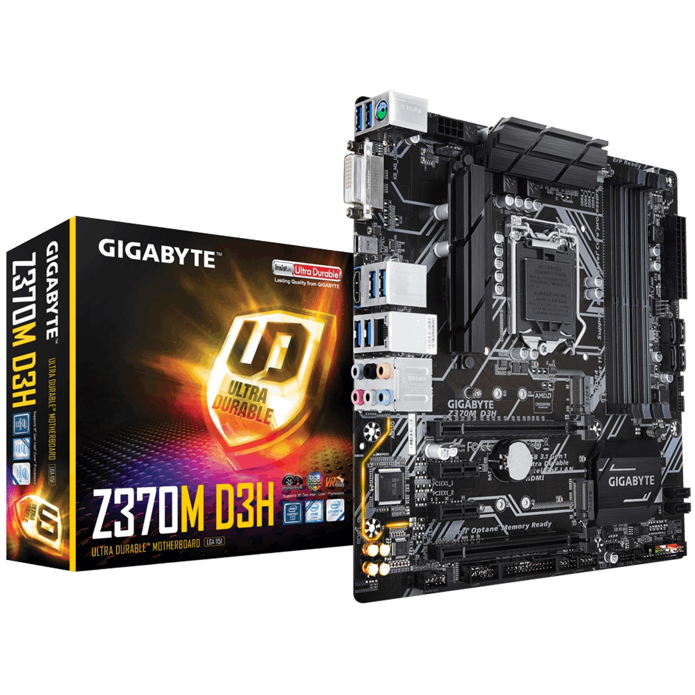 PLACA BASE GIGABYTE INTEL Z370M D3H LGA1151 DDR4X4