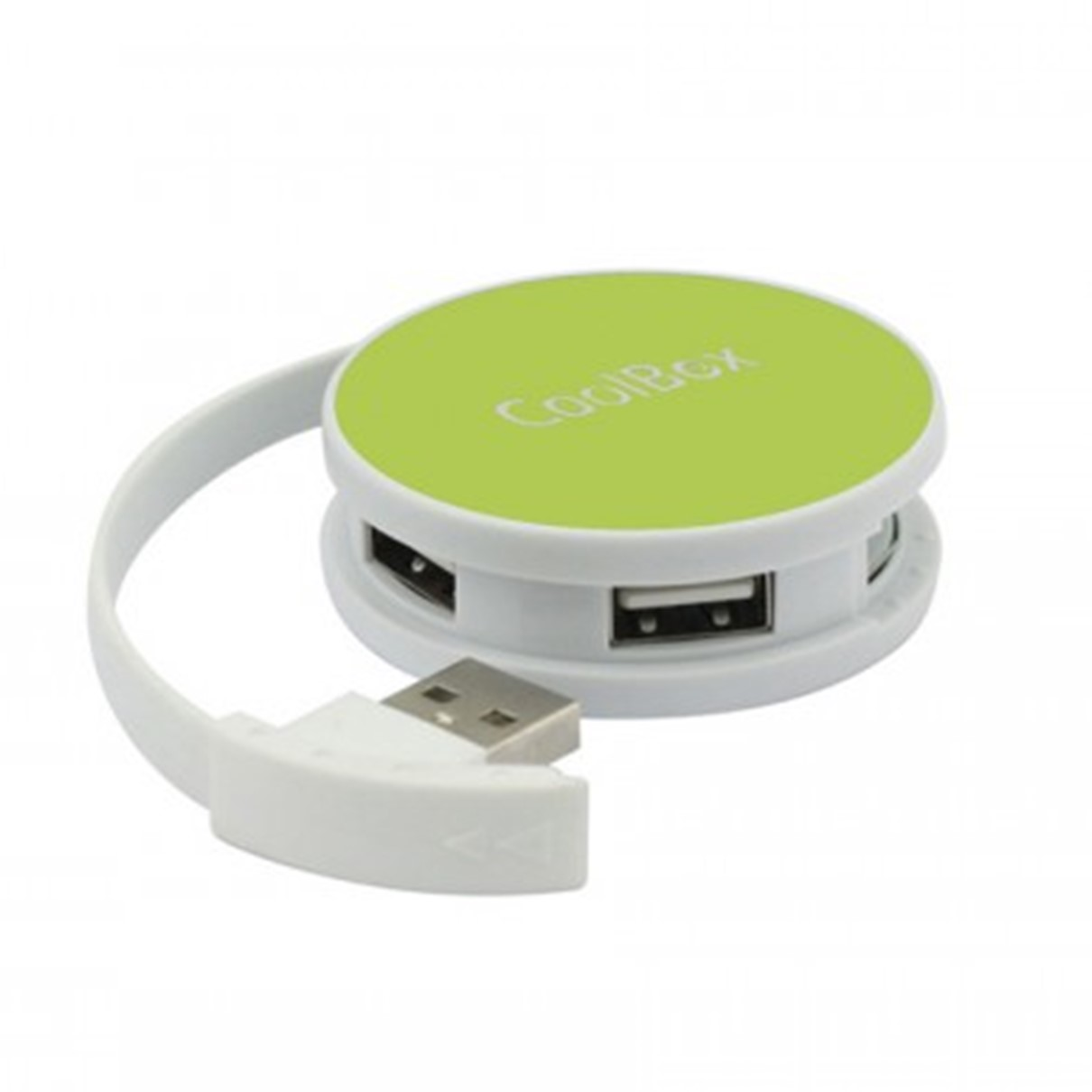 HUB COOLBOX 4 PUERTOS USB 2.0 COMPACTO VERDE