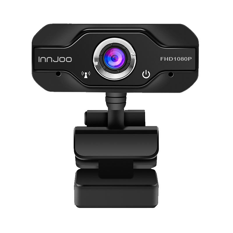 WEBCAM INNJOO CAM01 NEGRA FULL HD / 30FPS/ USB 2.0
