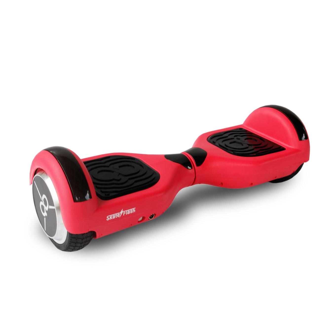 """Hoverboard skateflash k6+b rojo rueda 6.5"""" bateria"""