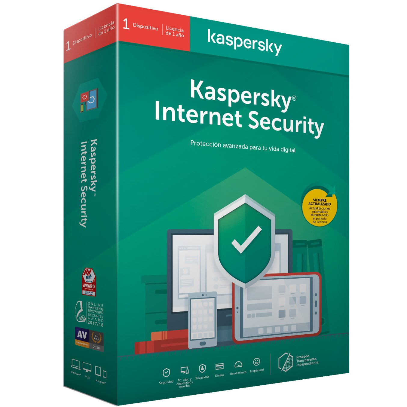 KASPERSKY INTERNET SECURITY 2020 - 1 USUARIO 1 AÃ?O